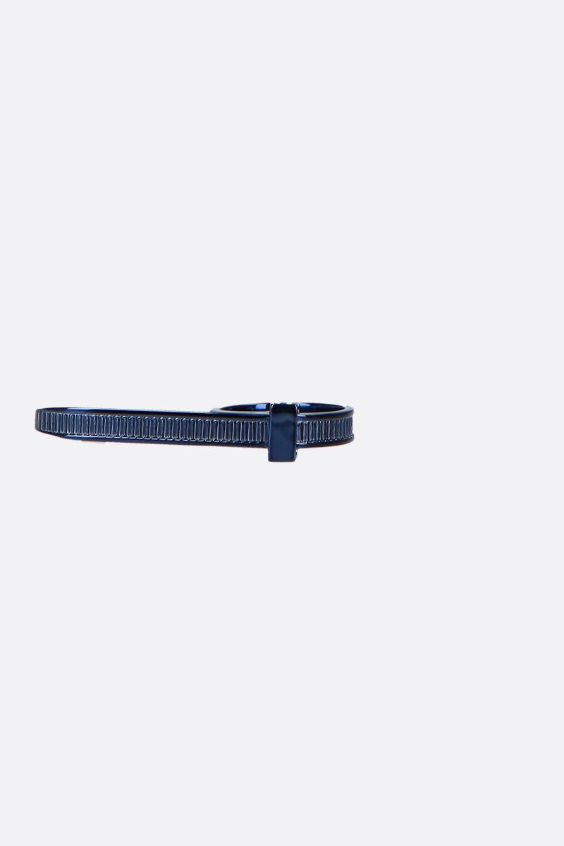 AMBUSH: Zip Tie ring in sterling silver Color Blue_1