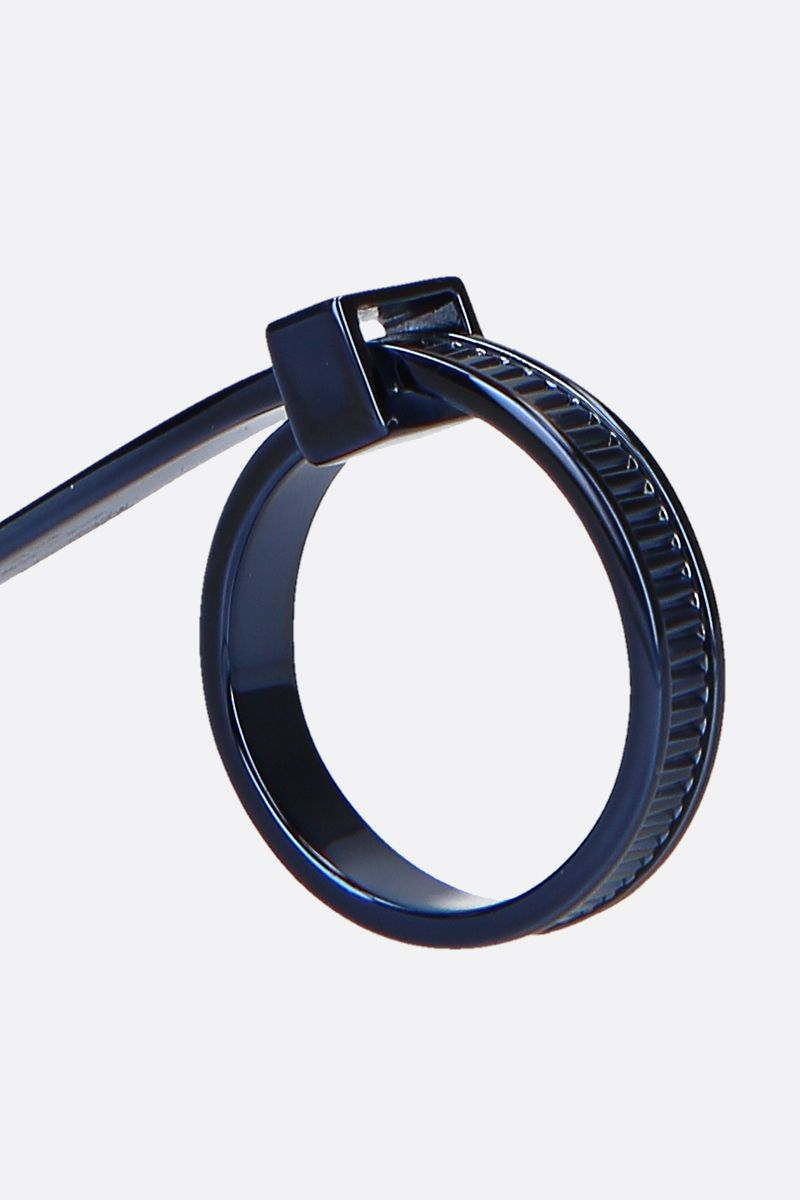 AMBUSH: Zip Tie ring in sterling silver Color Blue_4
