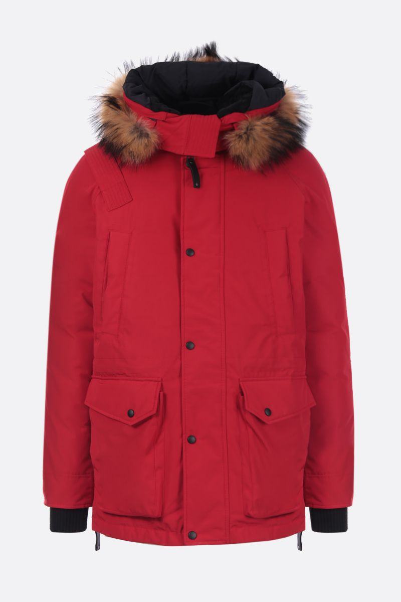 ARCTIC EXPLORER: Chill down parka in technical fabric Color Red_1