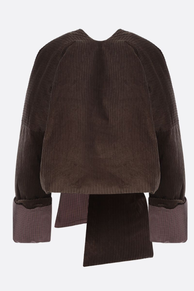 ASAI: reversible padded jacket with matching scarf Color Brown_2