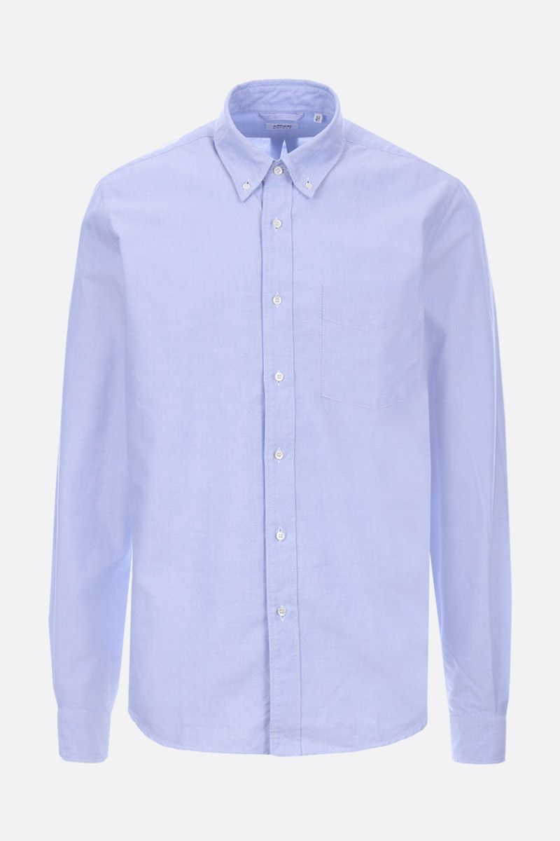 ASPESI: camicia slim-fit in oxford di cotone Colore Blu_1