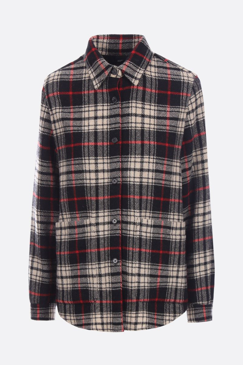 ASPESI: check Scottish wool overshirt Color Multicolor_1