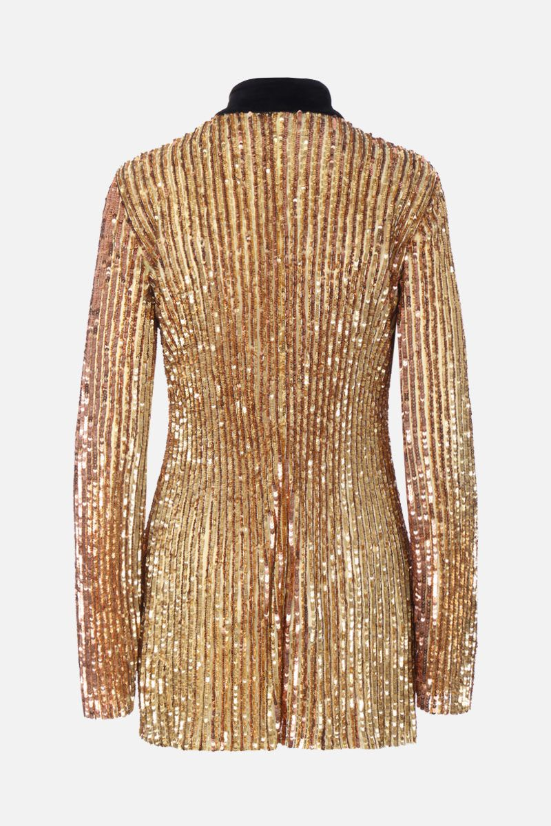 THE ATTICO: sequinned minidress with buckle detail Color Gold_2