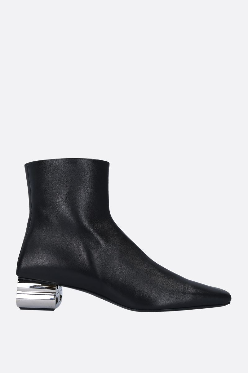 BALENCIAGA: Typo ankle boots in shiny leather Color Black_1