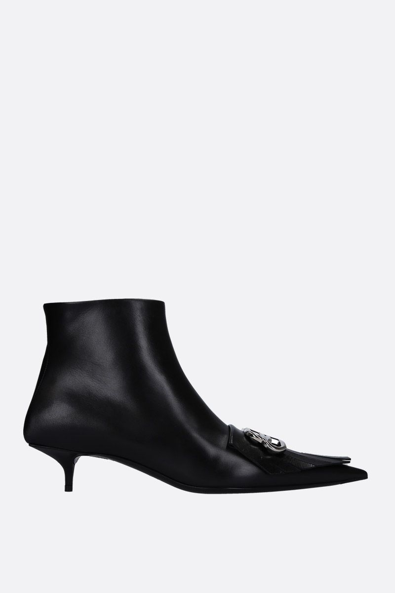 BALENCIAGA: BB ankle boots in smooth leather Color Black_1