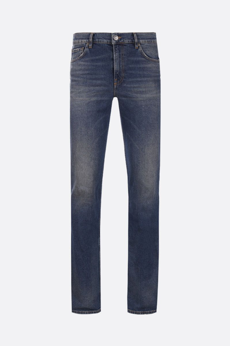 BALENCIAGA: distressed effect slim-fit jeans_1