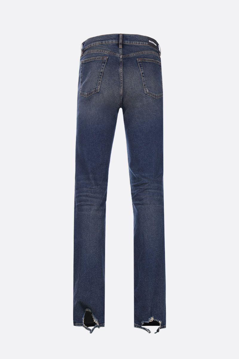 BALENCIAGA: distressed effect slim-fit jeans_2