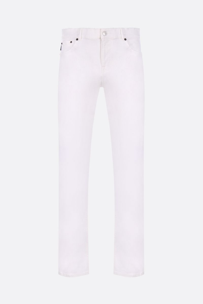 BALENCIAGA: distressed effect slim-fit jeans Color White_1