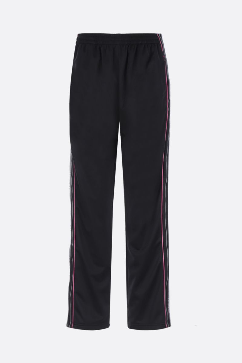 BALENCIAGA: jersey joggers with logoed bands Color Black_1