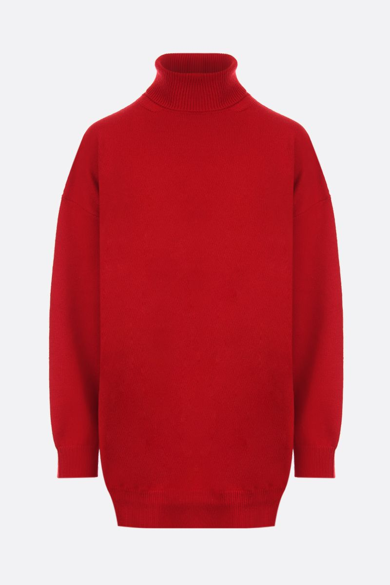 BALENCIAGA: cashmere knit oversized pullover Color Red_1