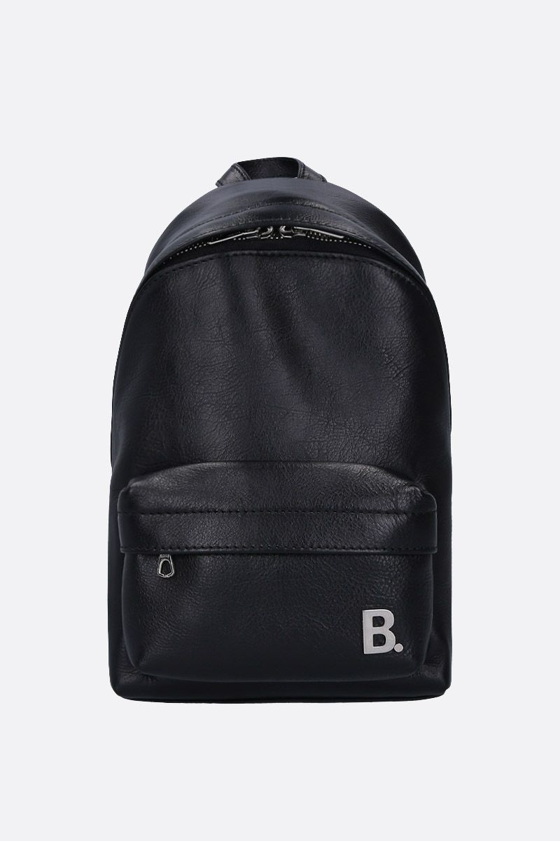 BALENCIAGA: XXS Soft backpack in nappa leather Color Black_1