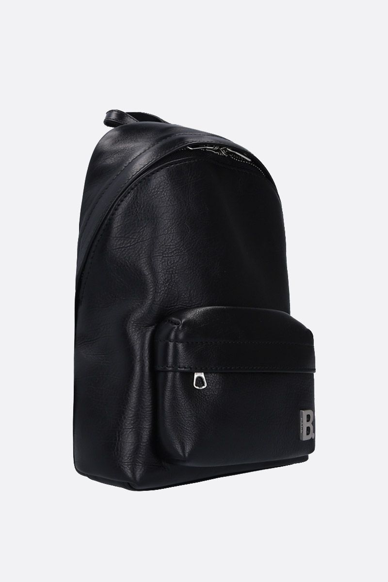 BALENCIAGA: XXS Soft backpack in nappa leather Color Black_2