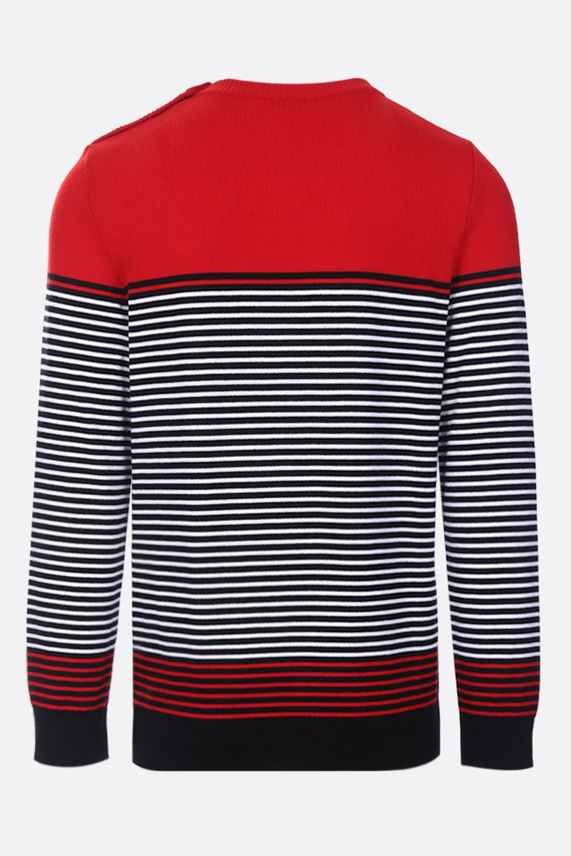 BALMAIN: striped wool pullover Color Multicolor_2