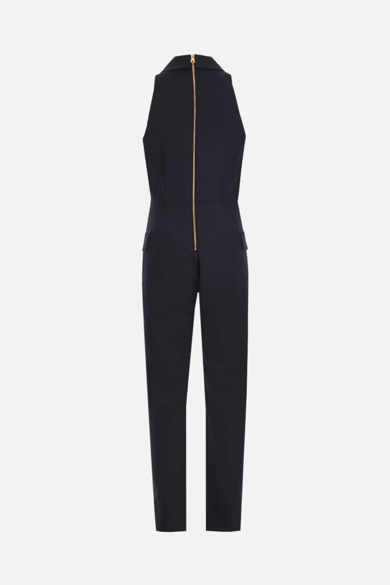 BALMAIN: double-breasted jumpsuit in wool blend Color Black_2