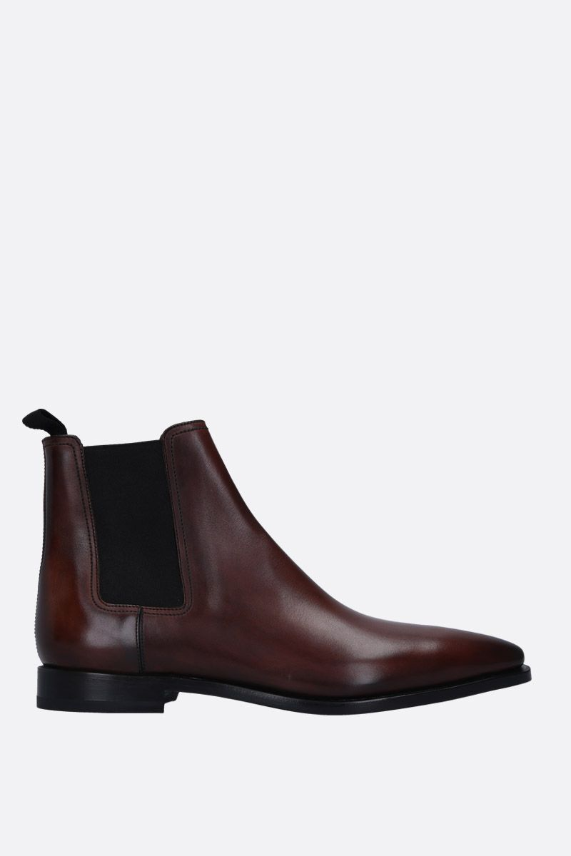 BERLUTI: Caractère Eclair chelsea boots in smooth leather Color Brown_1