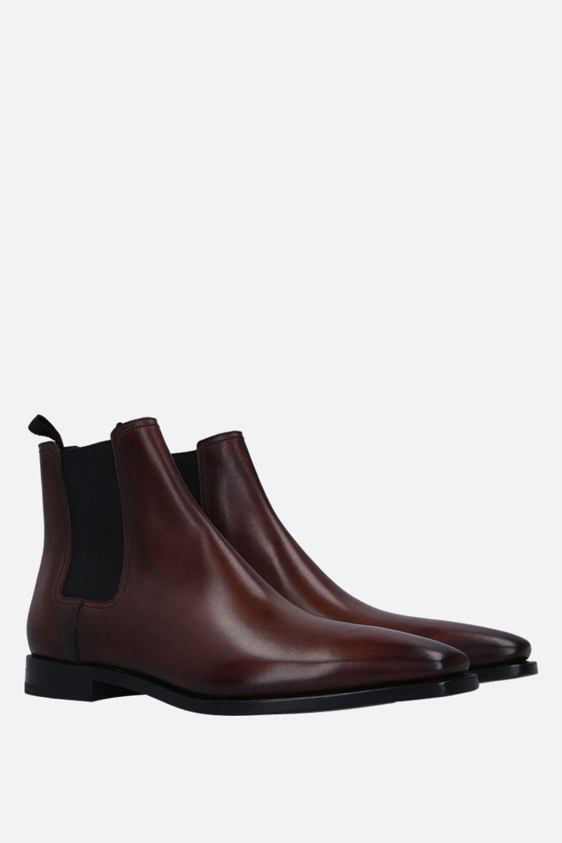 BERLUTI: Caractère Eclair chelsea boots in smooth leather Color Brown_2