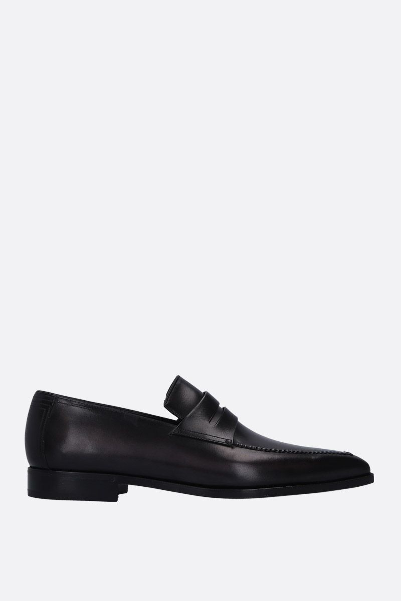 BERLUTI: Andy Demesure loafers in smooth leather Color Grey_1