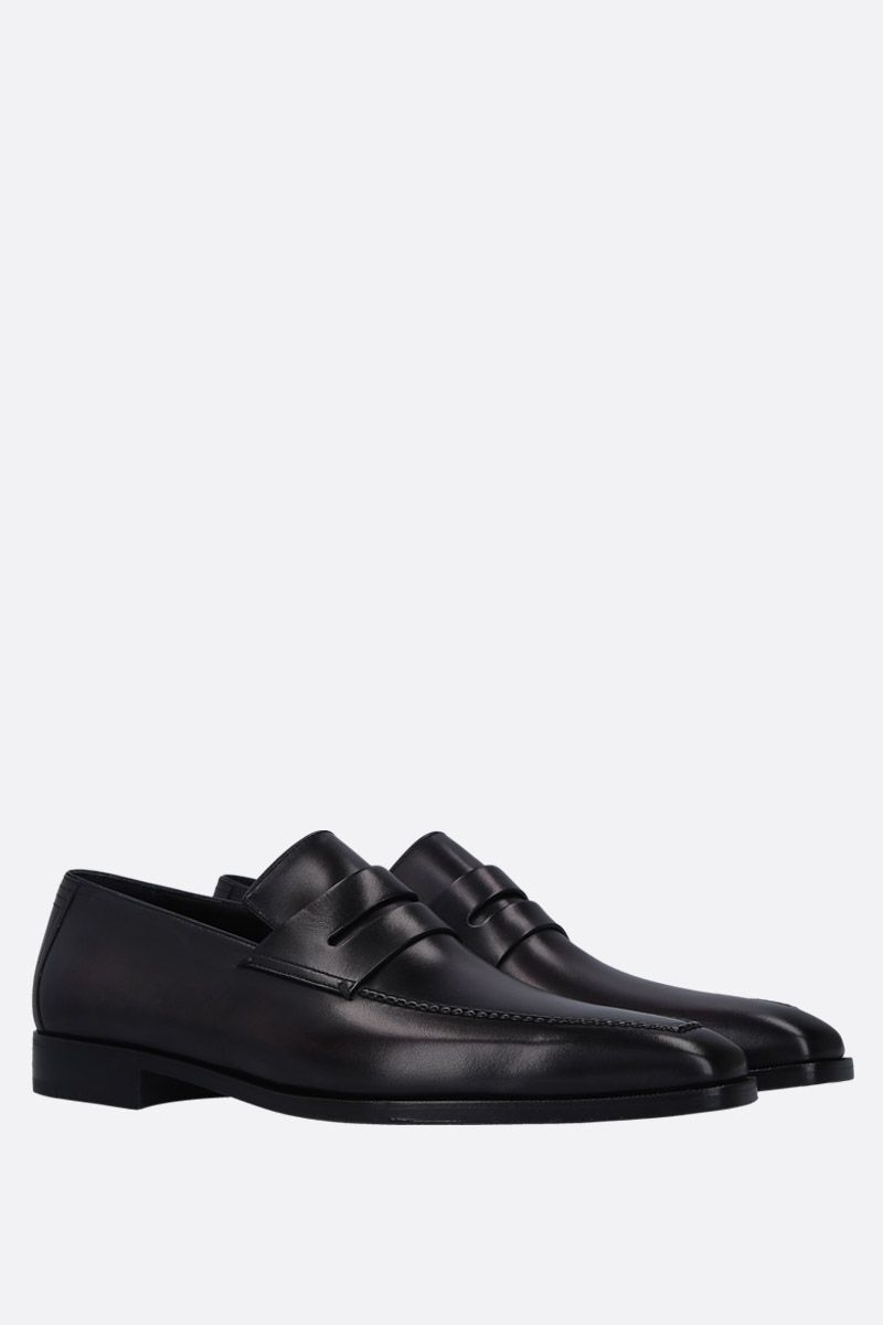 BERLUTI: Andy Demesure loafers in smooth leather Color Grey_2