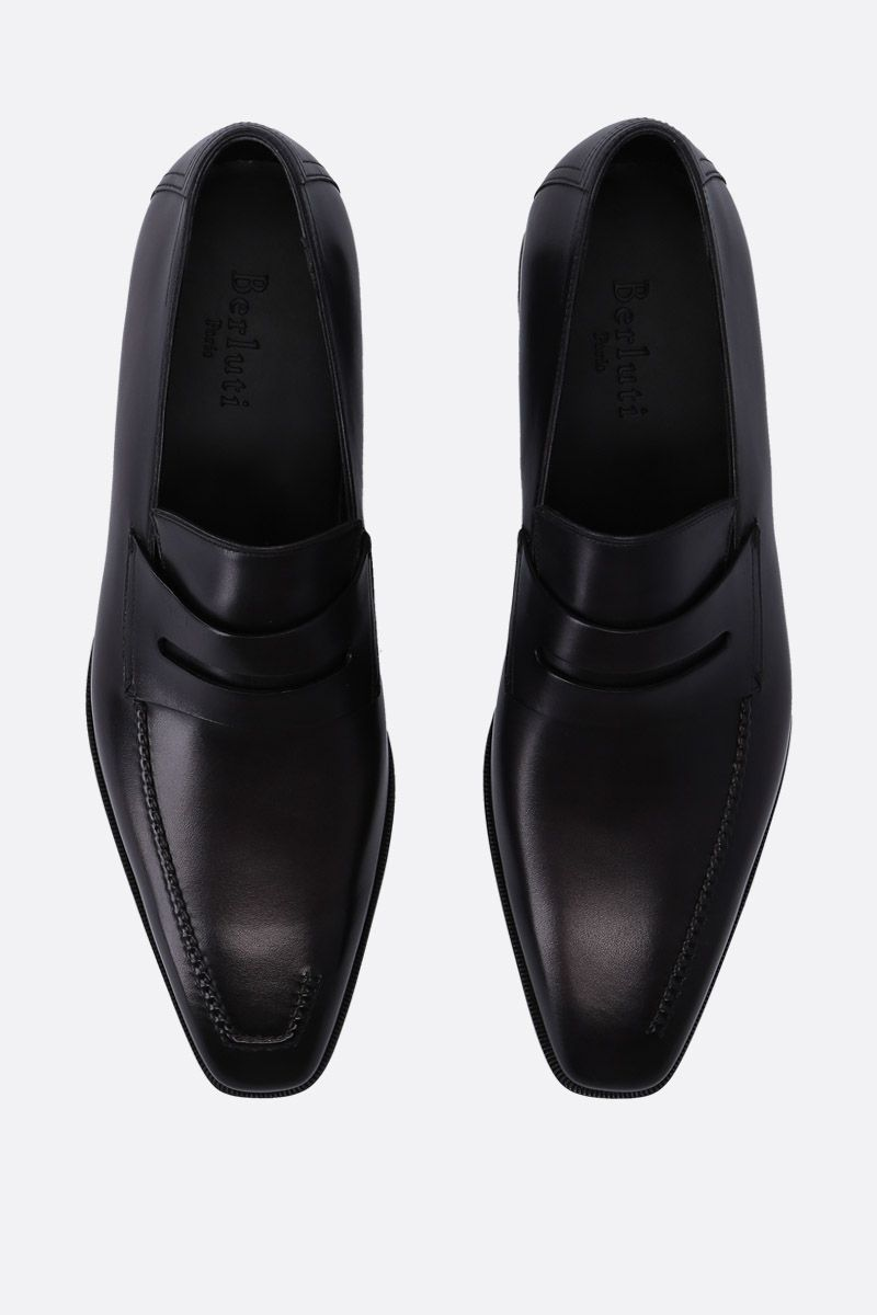 BERLUTI: Andy Demesure loafers in smooth leather Color Grey_4