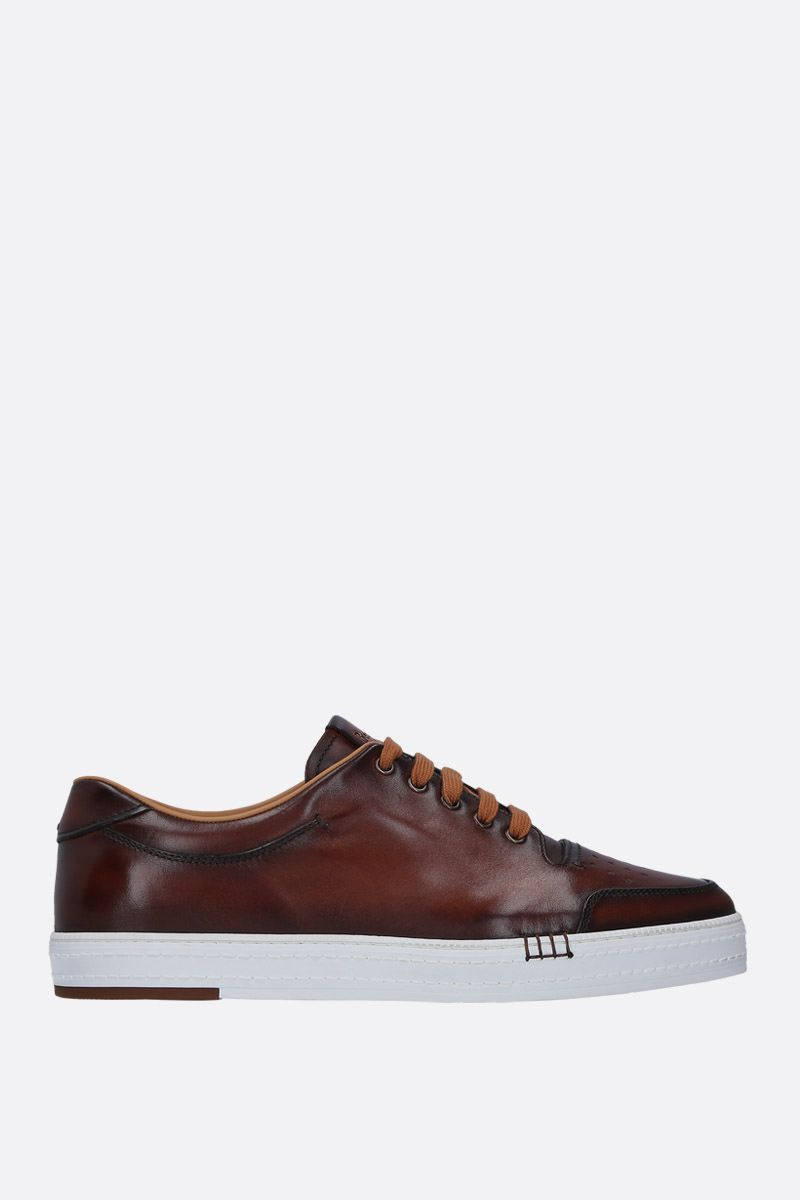 BERLUTI: Playtime sneakers in smooth leather Color Red_1