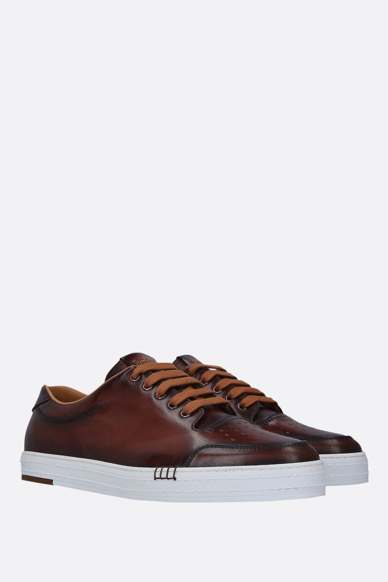 BERLUTI: Playtime sneakers in smooth leather Color Red_2