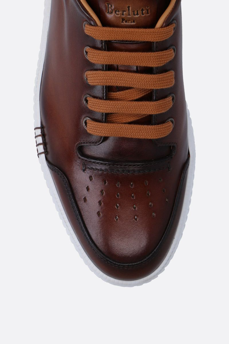 BERLUTI: Playtime sneakers in smooth leather Color Red_4