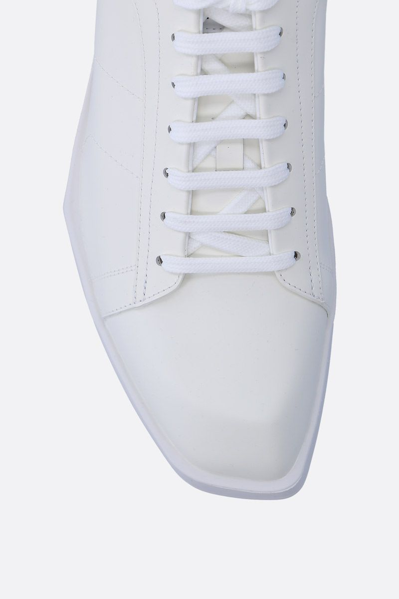 BERLUTI: Stellar sneakers in smooth leather Color White_4