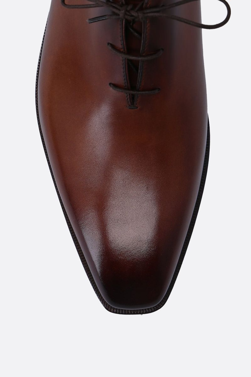 BERLUTI: Alessandro Demesure oxford shoes in smooth leather Color Red_4