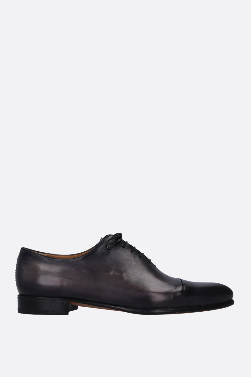 BERLUTI: Gaspar galet oxford shoes in smooth leather Color Black_1