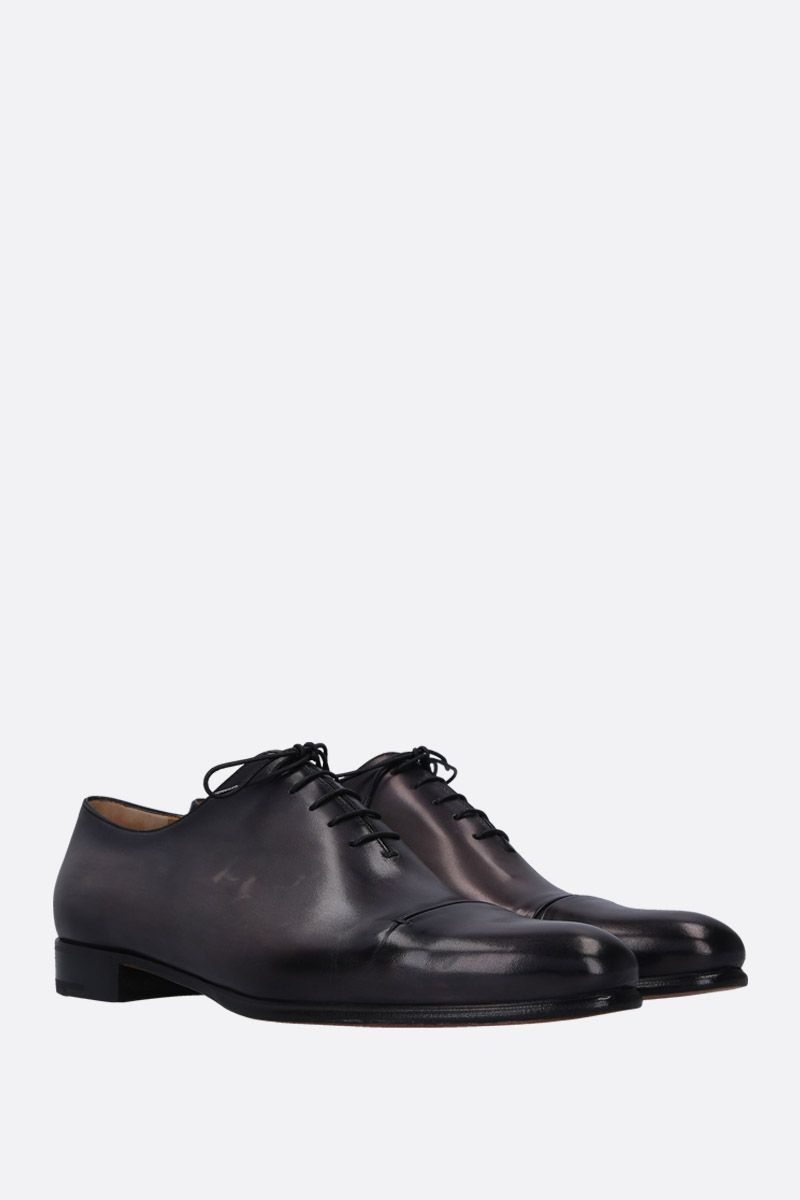 BERLUTI: Gaspar galet oxford shoes in smooth leather Color Black_2