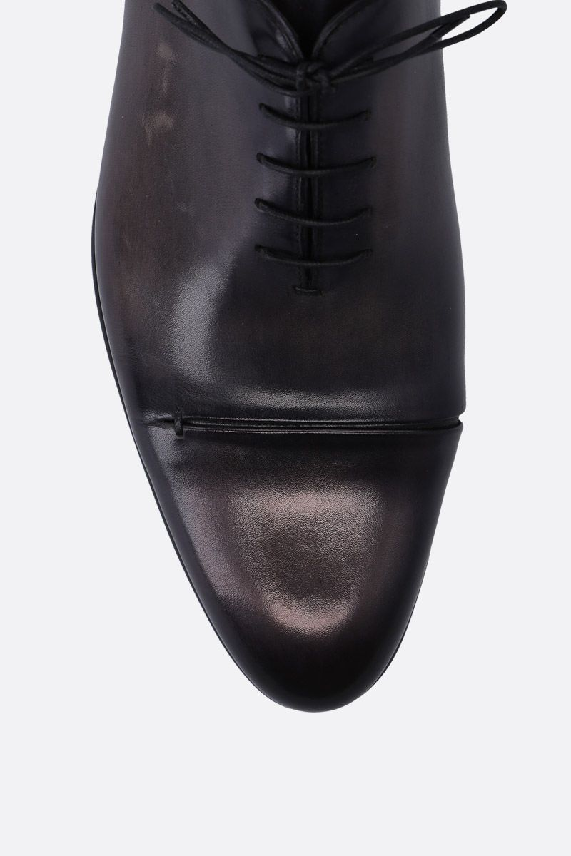 BERLUTI: Gaspar galet oxford shoes in smooth leather Color Black_4