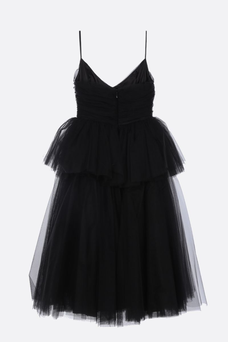 BROGNANO: multi-layered tulle midi dress Color Black_2