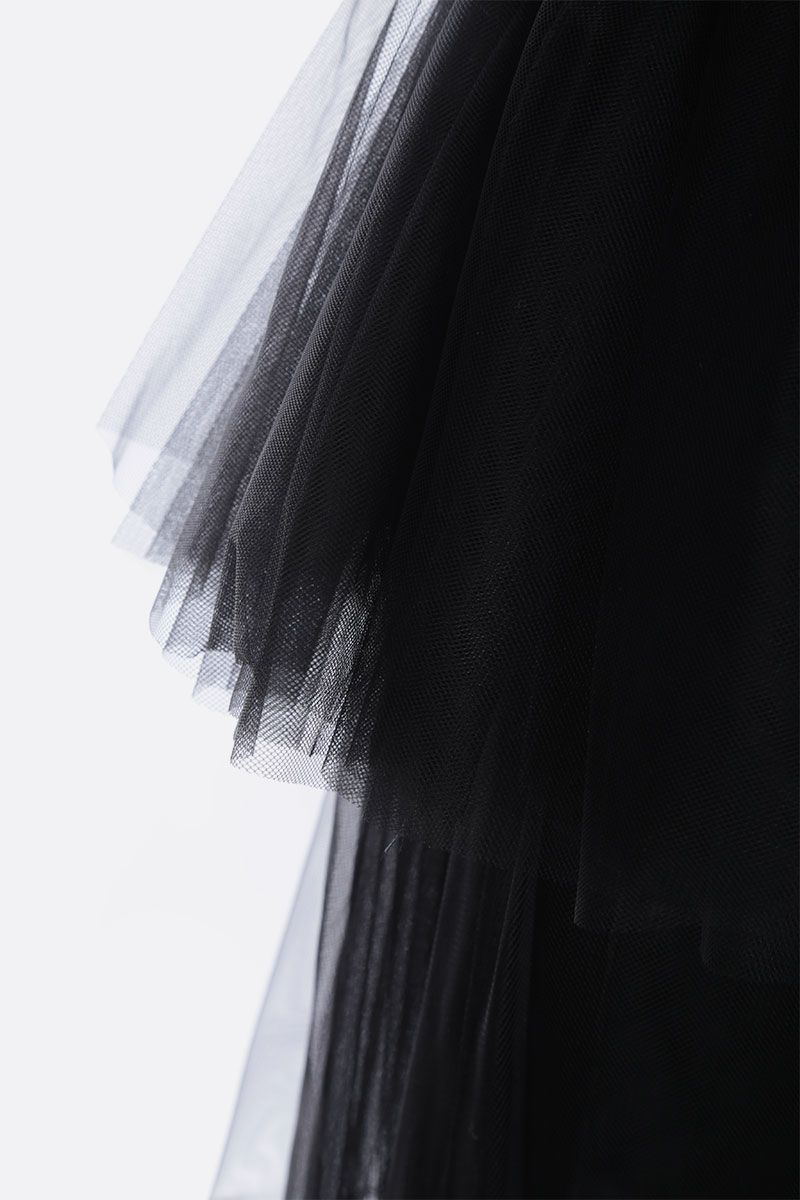 BROGNANO: multi-layered tulle midi dress Color Black_3