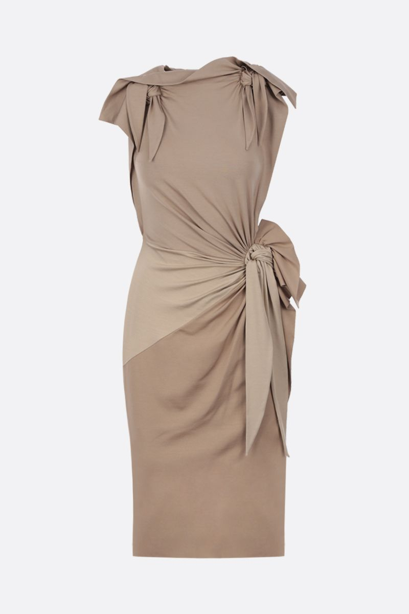 BURBERRY: silk jersey sleeveless dress with tie details Color Yellow_1