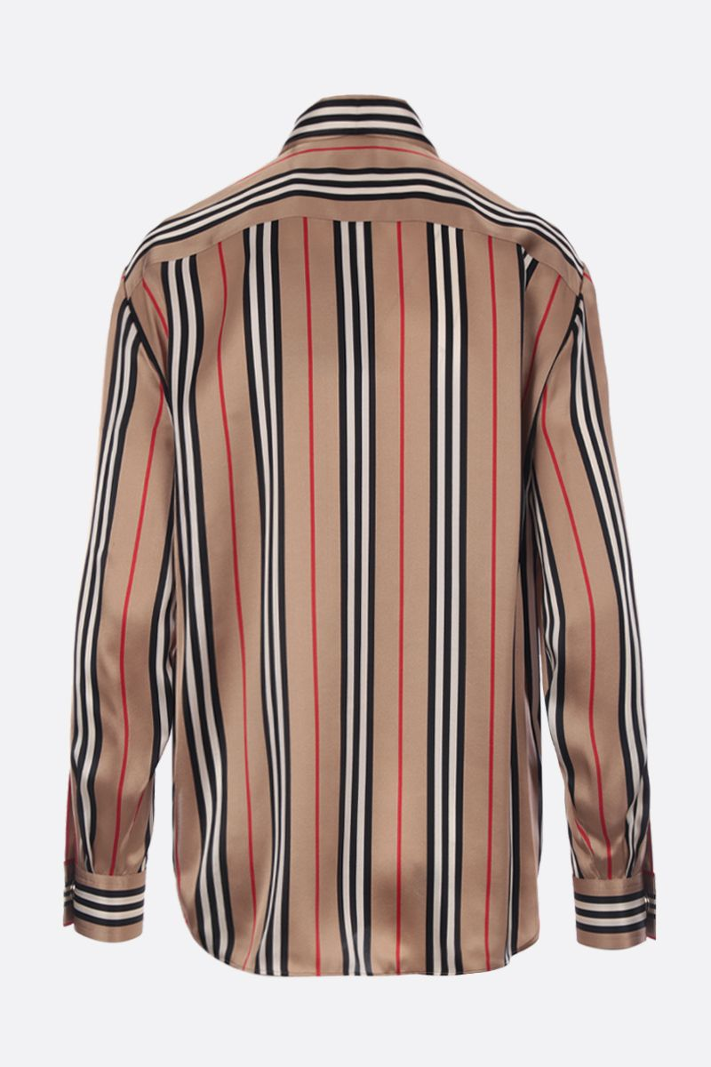 BURBERRY: Godwit silk shirt Color Brown_2