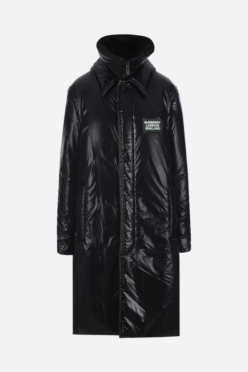 BURBERRY: padded car coat in shiny nylon Color Black_2
