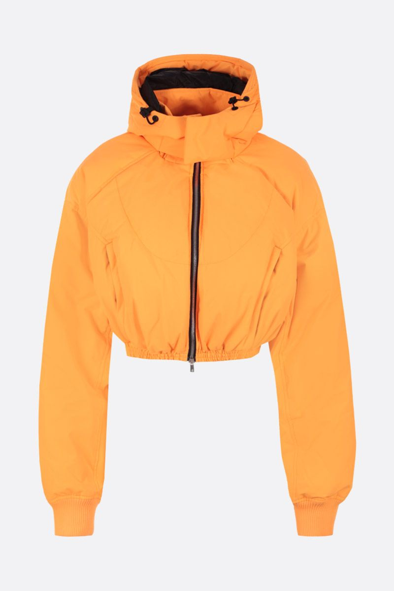 CHEN PENG: oversized short down jacket in technical fabric Color Orange_1
