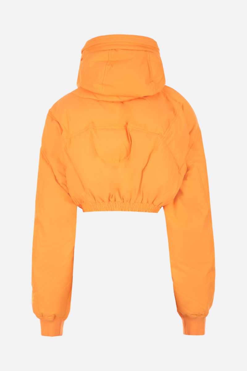 CHEN PENG: oversized short down jacket in technical fabric Color Orange_2