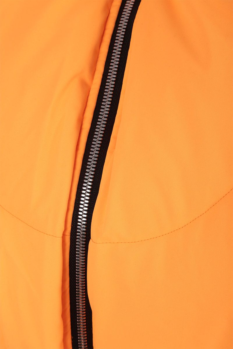 CHEN PENG: oversized short down jacket in technical fabric Color Orange_3