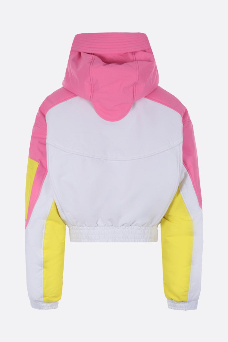 CHEN PENG: oversized short down jacket in technical fabric Color Pink_2