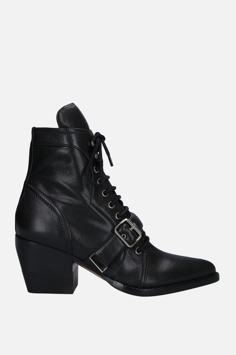 CHLOÈ: Rylee ankle boots in smooth leather Color Black_1
