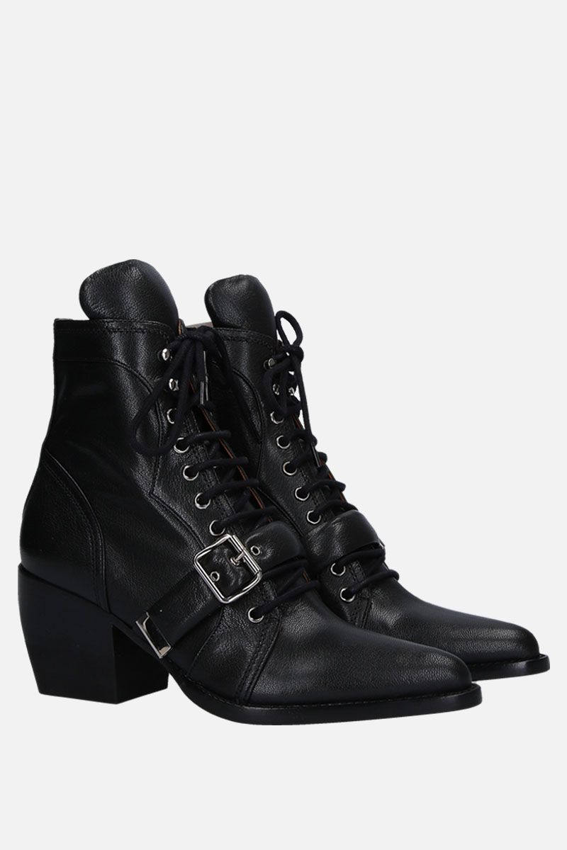 CHLOÈ: Rylee ankle boots in smooth leather Color Black_2