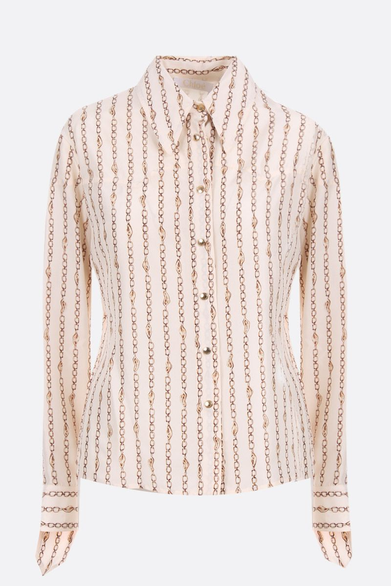 CHLOÈ: chains print silk shirt_1