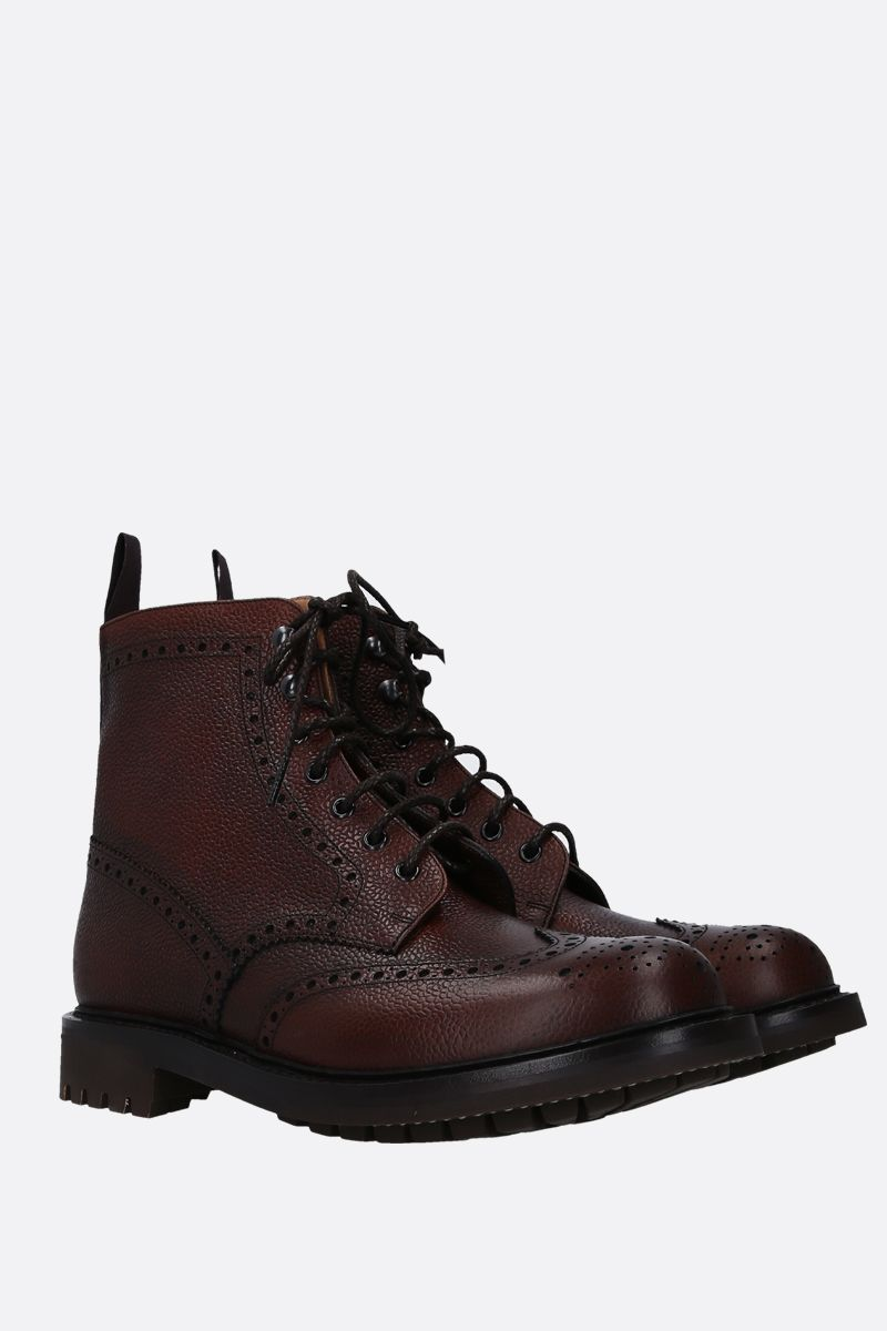 CHURCH'S: Mc Farlane combat boots in grainy leather Color Brown_2