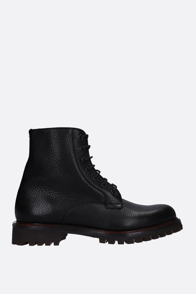 CHURCH'S: Coalport combat boots in grainy leather Color Black_1