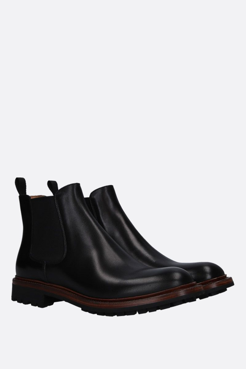 CHURCH'S: Genie chelsea boots in smooth leather Color Black_2