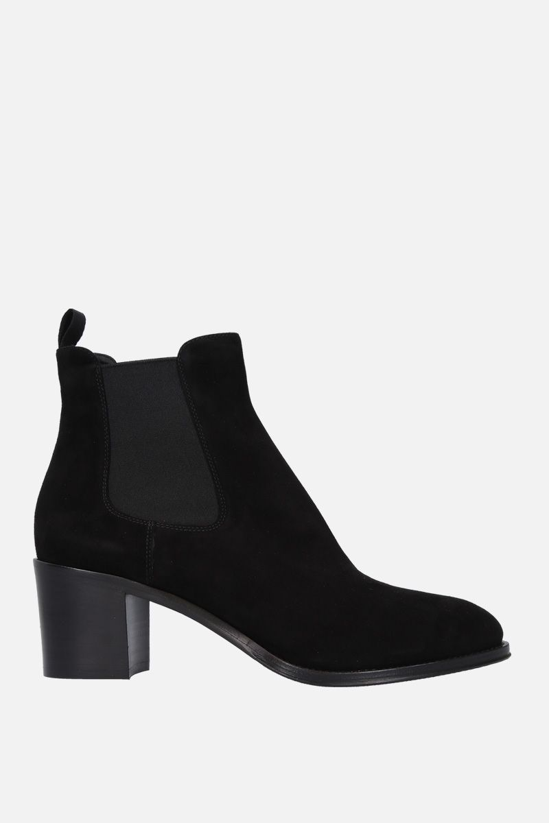CHURCH'S: Shirley ankle boots in suede Color Black_1
