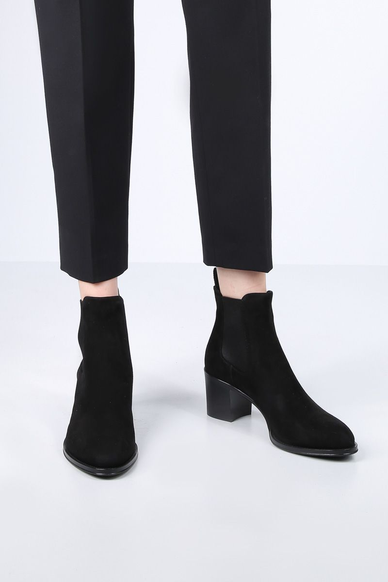 CHURCH'S: Shirley ankle boots in suede Color Black_2