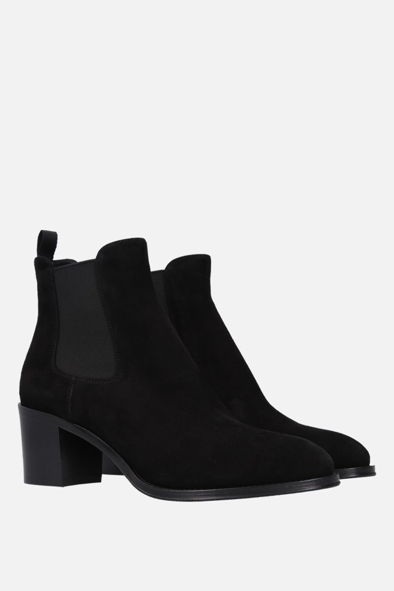 CHURCH'S: Shirley ankle boots in suede Color Black_3