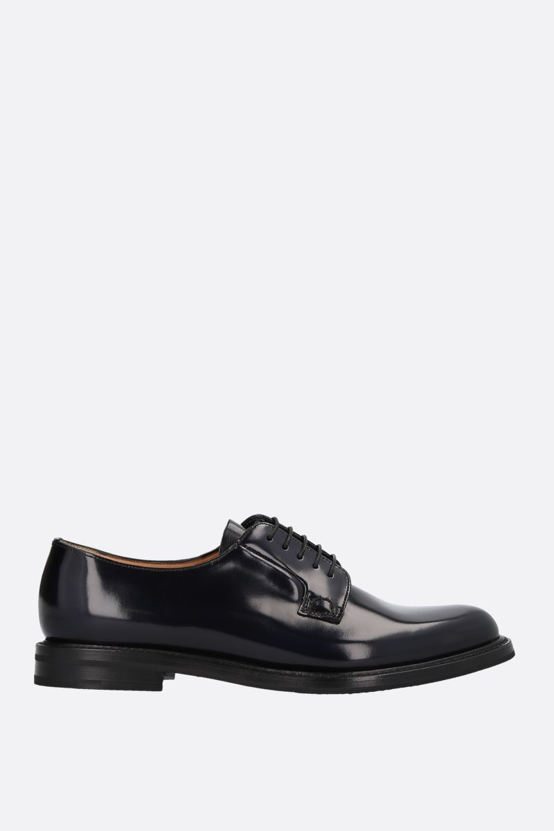 CHURCH'S: Shannon derby shoes in brushed calf Color Black_1